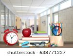 back to school concept with... | Shutterstock . vector #638771227