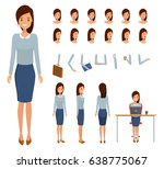woman character constructor for ... | Shutterstock .eps vector #638775067