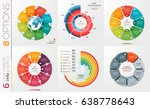 collection of 6 vector circle... | Shutterstock .eps vector #638778643