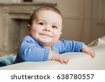portrait of funny baby boy... | Shutterstock . vector #638780557
