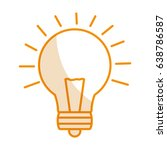 bulb light isolated icon | Shutterstock .eps vector #638786587
