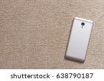 white smartphone mockup. | Shutterstock . vector #638790187