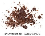 pile chopped  milled chocolate... | Shutterstock . vector #638792473