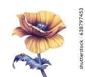 abstract tropical flower ... | Shutterstock . vector #638797453