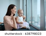 little girl and her young... | Shutterstock . vector #638798023