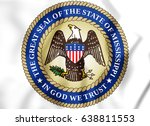 3d state seal of the... | Shutterstock . vector #638811553