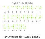 braille alphabet letters.... | Shutterstock .eps vector #638815657