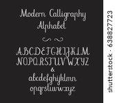 calligraphic alphabet.... | Shutterstock .eps vector #638827723