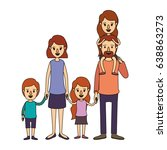 color image caricature big... | Shutterstock .eps vector #638863273
