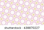 sloping colorful ornament for... | Shutterstock . vector #638870227
