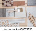 samples of material  wood  ... | Shutterstock . vector #638871793