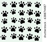 cat foots wallpaper background   Shutterstock . vector #638874487