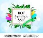 summer sale vivid layout design ... | Shutterstock .eps vector #638883817