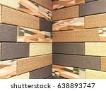 Small photo of Closeup of colorful sound absorbent wall panel.