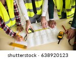 group of architects working on... | Shutterstock . vector #638920123