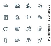 architecture outline icons set. ... | Shutterstock .eps vector #638925133