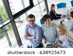 group of business people... | Shutterstock . vector #638925673