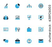 trade colorful icons set.... | Shutterstock .eps vector #638926003