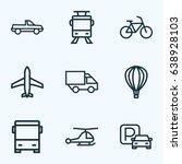 transport outline icons set.... | Shutterstock .eps vector #638928103