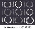 laurel wreaths and branches... | Shutterstock .eps vector #638937523