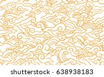 batik painting of java... | Shutterstock .eps vector #638938183