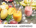 Tropical Fresh Smoothie In A...