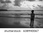 girl on the coast | Shutterstock . vector #638940067