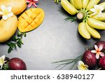 Tropical Fresh Fruits On Stone...