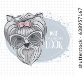vector pets fashion look | Shutterstock .eps vector #638957167