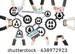 group of people with devices in ...   Shutterstock . vector #638972923