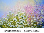flowers  oil paintings landscape   Shutterstock . vector #638987353