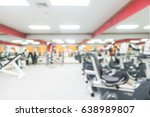 abstract blur gym and fitness... | Shutterstock . vector #638989807