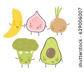 cartoon fruit and vegetables....