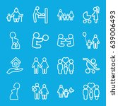 mother icons set. set of 16... | Shutterstock .eps vector #639006493