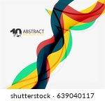 vector wave lines abstract... | Shutterstock .eps vector #639040117