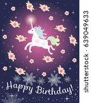 greeting card happy birthday... | Shutterstock .eps vector #639049633