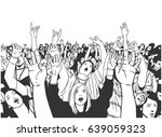 illustration of festival crowd... | Shutterstock .eps vector #639059323
