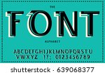 english alphabet. abc. stylized.... | Shutterstock .eps vector #639068377