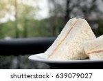 sandwich ham cheese place on... | Shutterstock . vector #639079027
