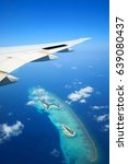 maldives islands top view with... | Shutterstock . vector #639080437