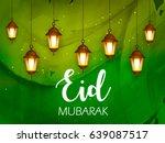 happy eid  eid mubarak  vector... | Shutterstock .eps vector #639087517