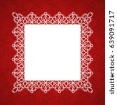 Square Lace Frame With A Place...