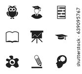 set of 9 editable school icons. ...