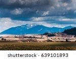 spring landscape under cloud sky | Shutterstock . vector #639101893
