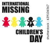 international missing children... | Shutterstock .eps vector #639106567