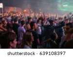 blurry night club dj party... | Shutterstock . vector #639108397