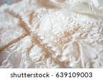wedding dress detail | Shutterstock . vector #639109003