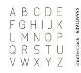 thin futuristic line stroke...   Shutterstock .eps vector #639109993
