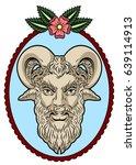 portrait of the god pan  faun ...   Shutterstock .eps vector #639114913
