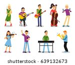 various musicians  characters... | Shutterstock .eps vector #639132673